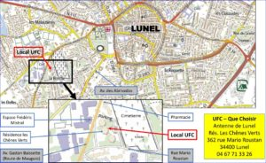 Plan d'accès à l'Agence de Lunel